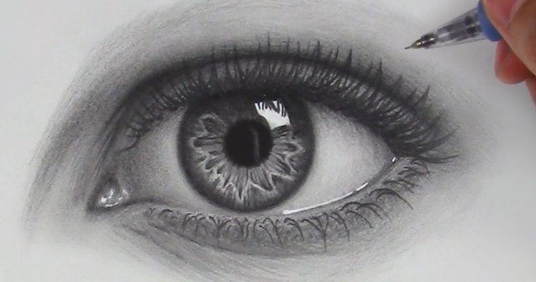 כיצד לצייר עיניים ריאליסטיות צעד אחר צעד