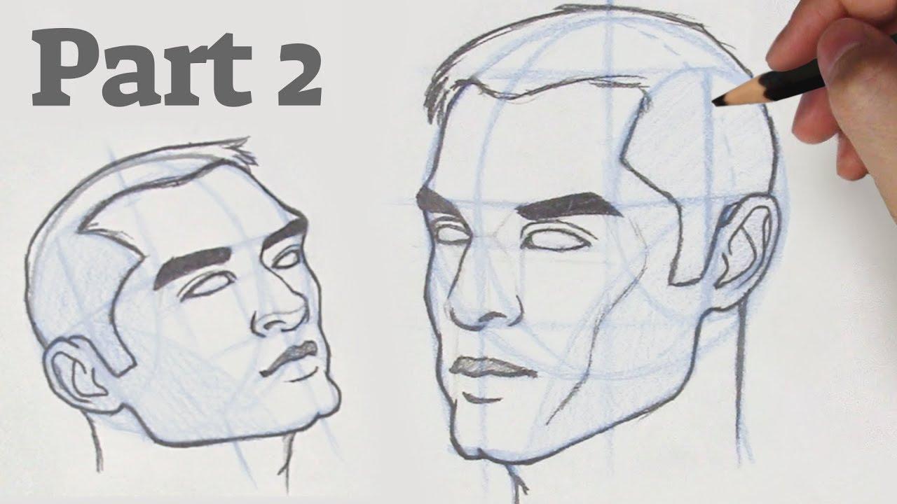 איך לצייר פנים מזויות שונות – 2